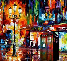 Tardis Night Painting by Thorinn