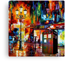 Tardis Night Painting Canvas Print