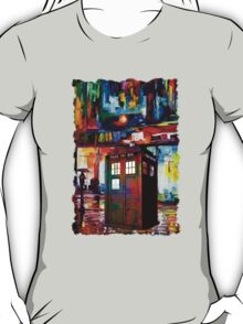 Tardis Night Painting T-Shirt