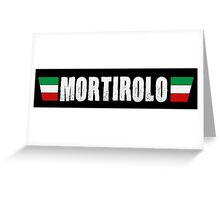 Mortirolo Cycling Italian Colors Shirt Greeting Card