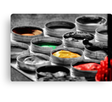 On The Darkside Of Colors Canvas Print