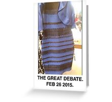 Black and Blue? White and Gold? Greeting Card
