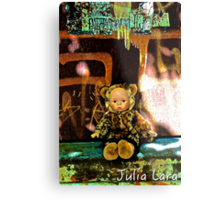 Back Alley Leopard Doll  Metal Print