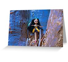 Scribble Bark Emo Barbie Greeting Card