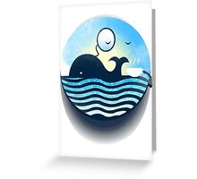 Sir Of Whales Tea Time Greeting Card