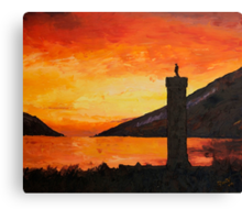 Glenfinnan monument sunset Canvas Print