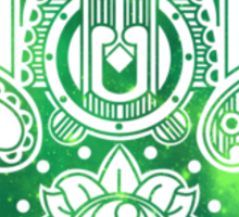 Green Hamsa Hand Sticker