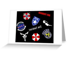 Resident Evil Symbol Pattern Greeting Card