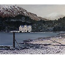 Glenfinnan House Hotel in the winter Photographic Print