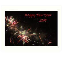 Happy New Year 2009 Art Print