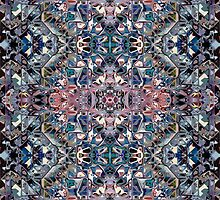Geometric Abstract Pattern of Colors by Phil Perkins
