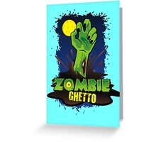 ZOMBIE GHETTO OFFICIAL LOGO DESIGN Greeting Card