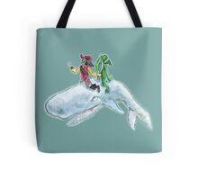 The Pirate, the alien and the whale Tote Bag