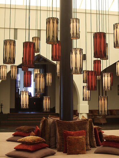 Entrance foyer at Chedi Hotel Oman by DeborahDinah