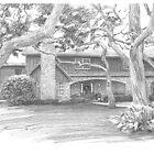 house with landscaping drawing by Mike Theuer