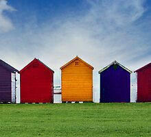 Beach Hut Series 19 by Amanda White