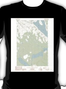 Maine USGS Historical Map St Agatha 103000 1986 24000 T-Shirt