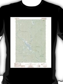Maine USGS Historical Map St Croix Lake 103001 1986 24000 T-Shirt