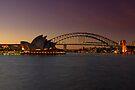 Sydney Opera House Lights Dimmed  As A Tribute To Architect Joern Utzon by DavidIori