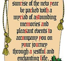 Christmas message within a message by Antoine de Paauw