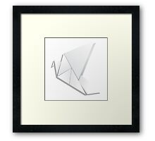 Origami pigeon 2 Framed Print