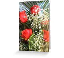 Bouquet with red roses 7 Greeting Card