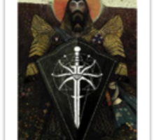 Dragon Age Inquisition Blackwell Tarot card 2 Sticker