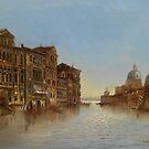 Karl Kaufmann 1843-1905 Scene of Venice with a View of the Santa Maria della Salute by Adam Asar
