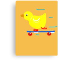 DUCKY ON A SKATEBOARD COLLECTION,BAGS,CASES,DUVET,LEGGINGS AND MORE Canvas Print