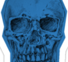 Blue Skull Sticker