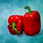Red Bell Peppers by luckypixel