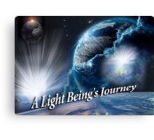 A Light Being's Journey Canvas Print