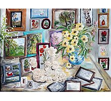 Table of an Art Enthusiast Photographic Print