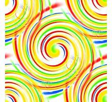 Color Swirls Photographic Print