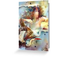 """Dancing with Birds"" - - postcard & greeting card Greeting Card"