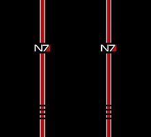 Mass Effect N7 Logo Double by queencarnage