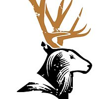 The stag by Kaplar