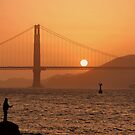 Golden Gate Golden Sunset by Jo Nijenhuis