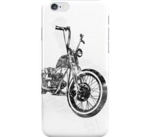 Old School Bobber Motorcycle iPhone Case/Skin
