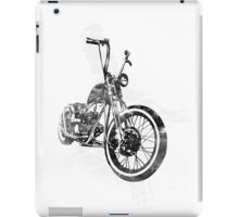 Old School Bobber Motorcycle iPad Case/Skin
