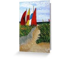Pathway to Sails Greeting Card