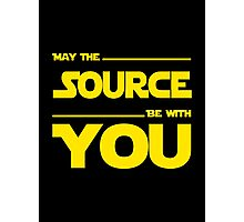 May The Source Be With You - Dark Programmer Shirt Photographic Print