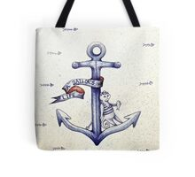A sailors life for me, cat & anchor  Tote Bag