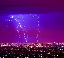 Lightning over Adelaide by Andre Gascoigne