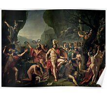 Leonidas at Thermopylae - Jacques-Louis David, 1814 Poster