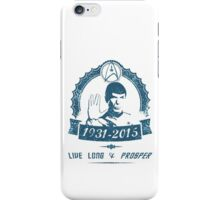 Spock - Leonard Nimoy iPhone Case/Skin