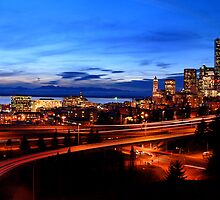 Seattle Sunset -02- by Mark Bauschke