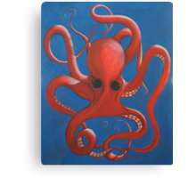 Octopus Oil Canvas Print