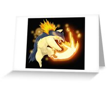 Epic Flaming Typholosion Greeting Card