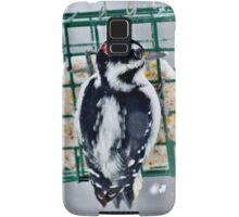 Hairy Woodpecker in the Storm Samsung Galaxy Case/Skin